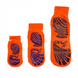Fluorescent Ankle Crew Anti-slip Grip Socks For Trampoline Games