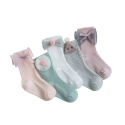 Newborn Baby Socks Toddler Stockings Baby Crew Socks With Grip For Kids
