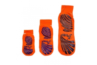 China Fluorescent Ankle Crew Anti-slip Grip Socks For Trampoline Games factory